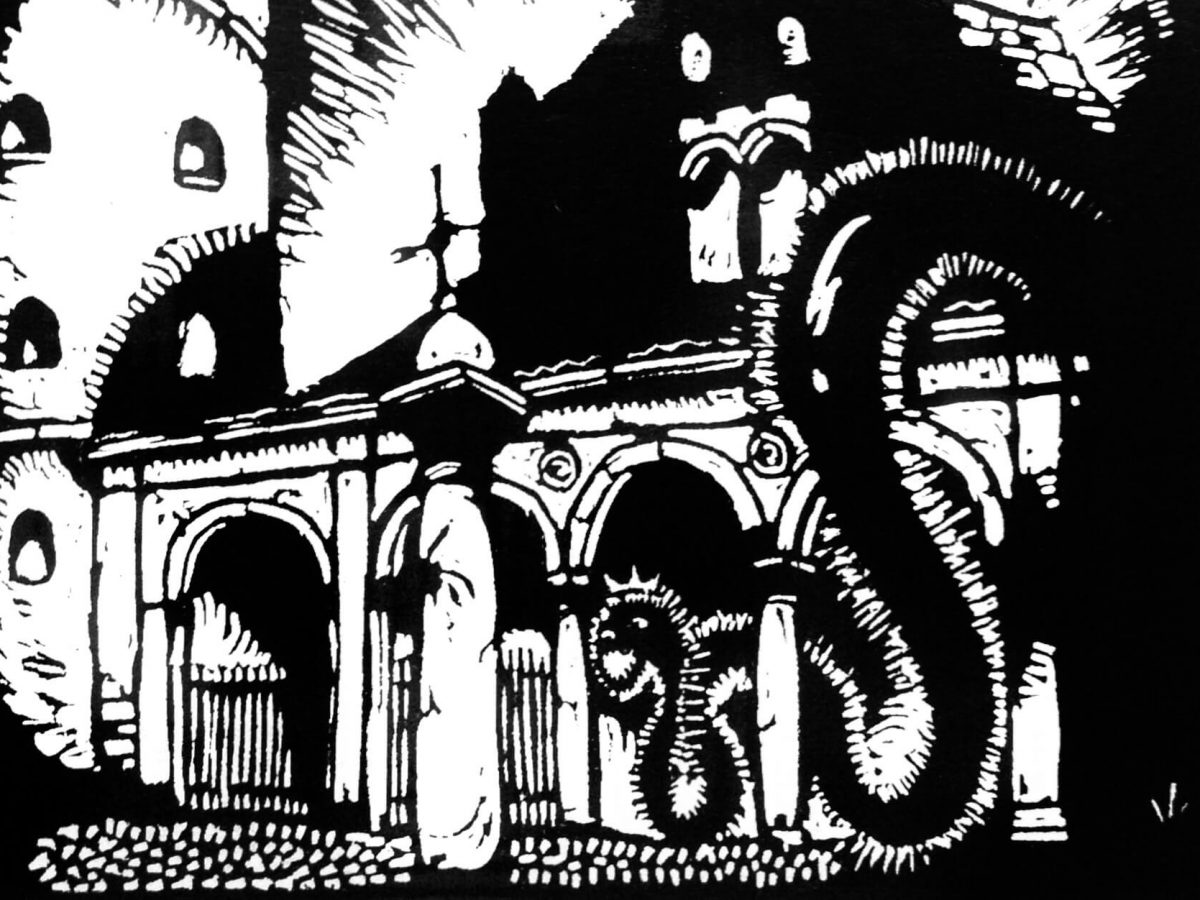 Bombe su Sant'Apollinare Nuovo, Giorgio Wenter Marini, 1921