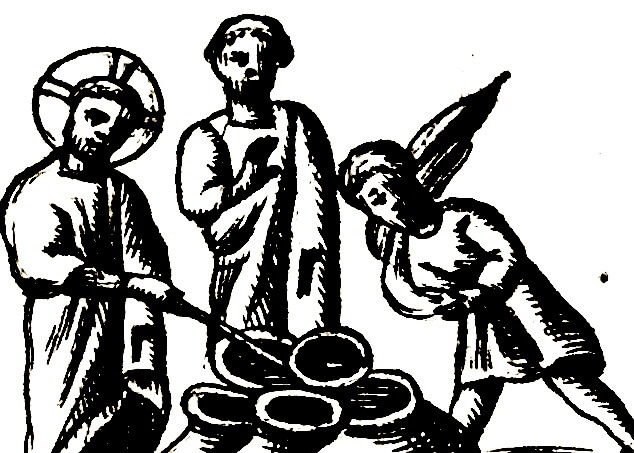 Le nozze di Cana, dettaglio da Vetera Monimenta