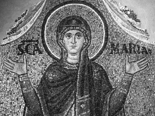 Vergine Orante, mosaico datato al 1112
